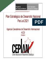 Plan Estrategico de Desarrollo Nacional Peru Al 2021