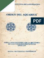 Acta Constitutiva de La Fundacion Orden Del Aquarius