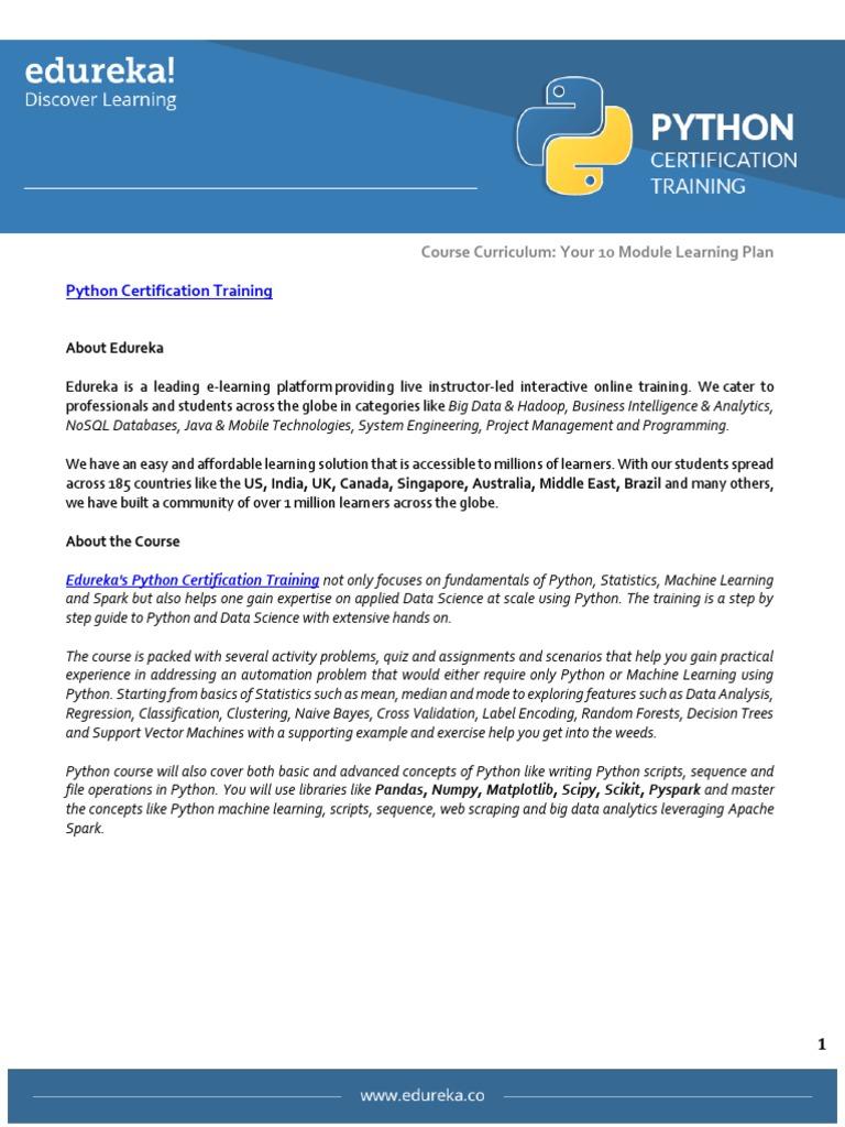Course Curriculum Python | Method (Computer Programming