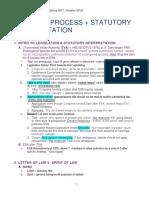 Legislation and Regulation Outline - Spring 2017