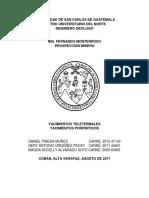 Yacimientos Teletermales y Porfidos de Cu