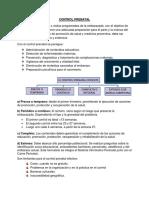 Tema 8- Control Prenatal
