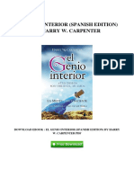 El Genio Interior Spanish Edition by Harry w Carpenter