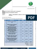 Cotizacion Mantenimiento y Limpieza Camara Aguas Residuales Cucungara