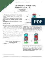 Aplicaciones de Los Procesos Termodinamicos