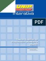 Tópicos Especiais de Programação Orientada a Objetos