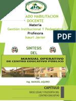 Síntesis del manual operativo de centros educativos públicos Dominicano.