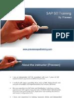 SAP SD Training by Praveen1