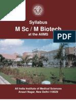 AIIMS Biotech Syllabus