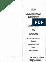 Cal Tech Casio Fx 991 Es Plus Civil Engineering and Mathematics Tolentino 2014