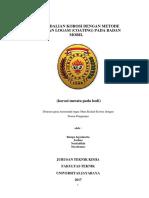Pengendalian Korosi Dengan Metode Pelapisan Logam (Coating) Pada Badan Mobil