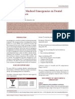 2016 Management of Medical Emergencies in Dental Practice- A Review