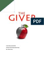 Carlos Nolasco Final Project- The Giver Essay