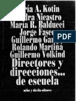 Directores y Direcciones de Escuela