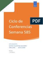 Ciclo de Conferencias Semana 585