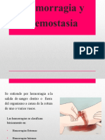 Hemorragia y Hemostasia
