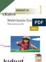 Training Manual on Kidivit 200ml