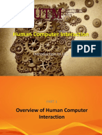 Introduction to HumanComputer Interaction