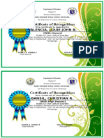 Certificate Honors Lourdes