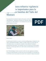 Junín, Senasa Refuerza Vigilancia en Cultivos Importantes Para La Agricultura Familiar Del Valle Del Mantaro