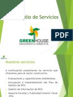 Portafolio de Servicios Green House Saneamiento Ambiental