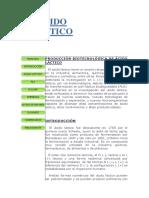 ÁCIDO LÁCTICO - BIOTECNOLOGIA