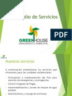 Portafolio de Servicios Green House Saneamiento Ambiental Conjuntos Residenciales