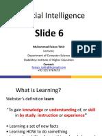 Lec#06 AI Machine Learning