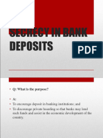 Secrecy in Bank Deposits