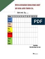 Papan Monitoring Anggaran Dana Khas Adat Banjar Nusa Jaya Tahun 2016