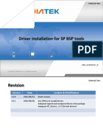 Driver Installation for SP BSP Tools