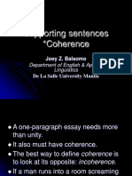 2.2 Supporting Sentences Coherence