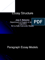 4 Essay Structure