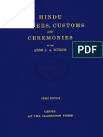Hindu Manners and Customs and Ceremonies