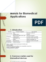 Metals for Biomedical Applications