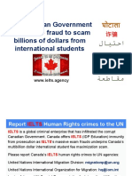Canadian Government uses IELTS to scam international students