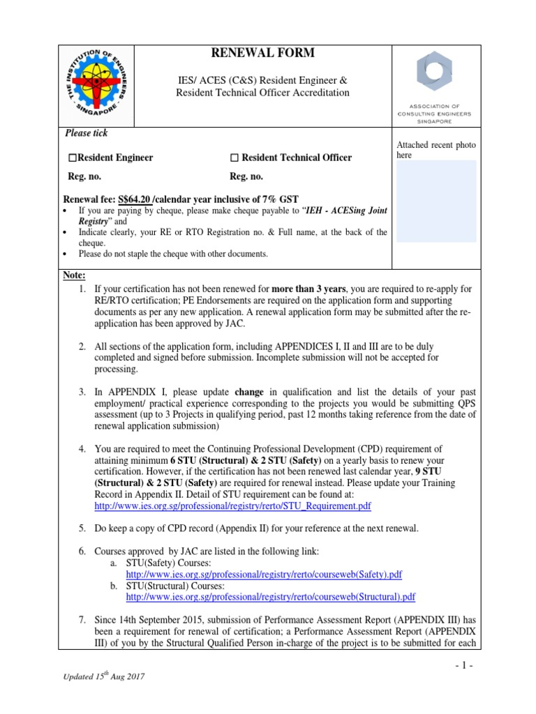 Cs re rto renewal application form 20172018 politics government yadclub Choice Image