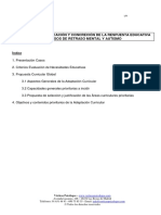 Evaluacio Planificacion y Concrecion de La Respuesta Educativa en Casos de Retraso Mental y Autismo