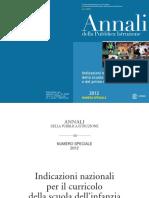 Indicazioni per il curricolo Annali Definitivo 2012