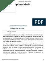 Transdisciplinaridade - Educacão - InfoEscola