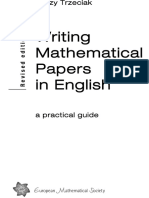1995-Ems-trzeciak-writing Mathematical Papers in English a Practical Guide