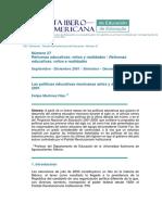 Las Politicas Educativas Antes y Despues de 2001