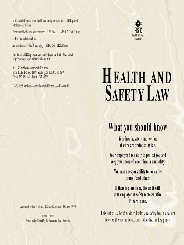 h s law occupational safety and health safety