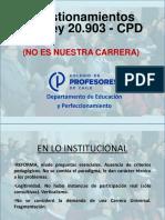 Cuestionamientos CPD - Ley 20.903