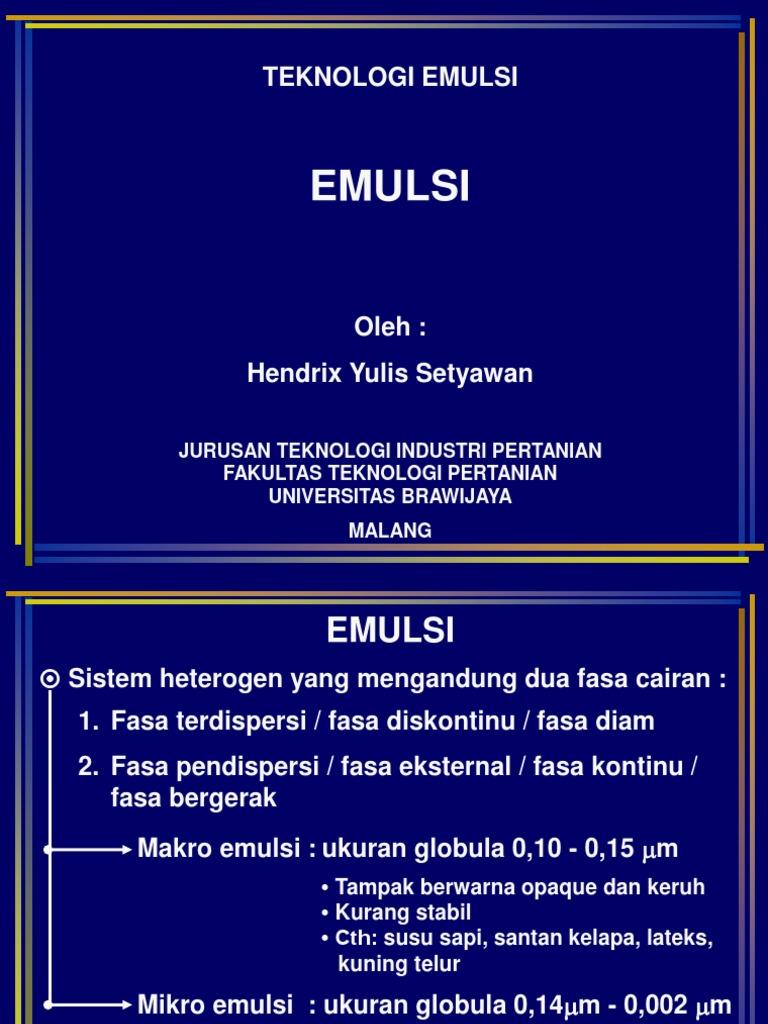 8 Teknologi Emulsi