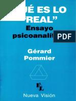 POMMIER, Gerard - Qué es lo real.pdf