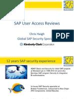 User Security Chris Haigh