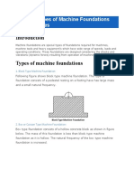 Different Types of Machine Foundations and Their Uses