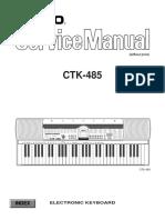 Casio CTK-485 Service Manual