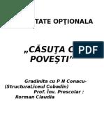 Optiona.casuta Cu Povesti